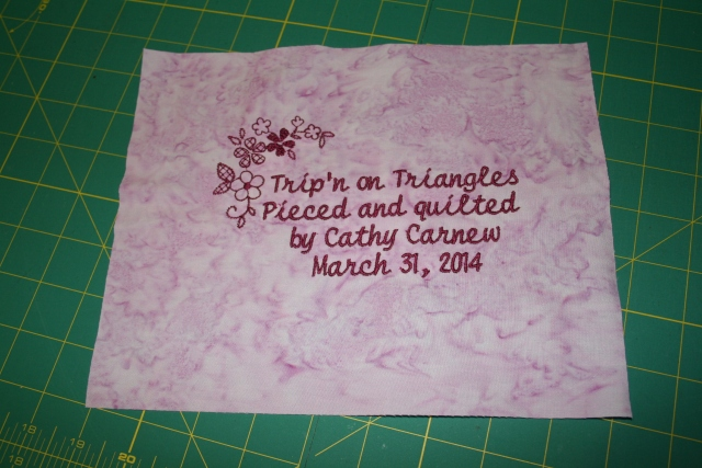 Cathy's label, she didn't want anything fancy