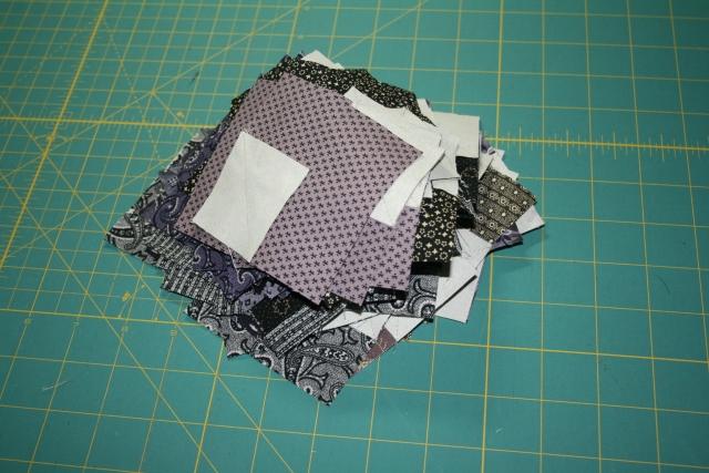 228 squares sewn on