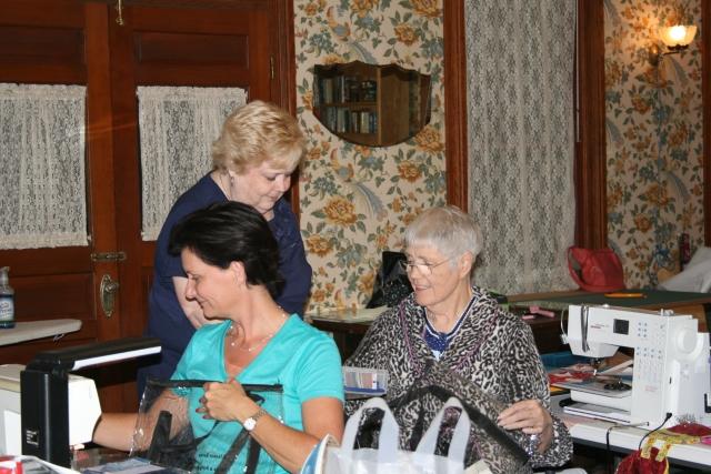 Linda handing out lovies