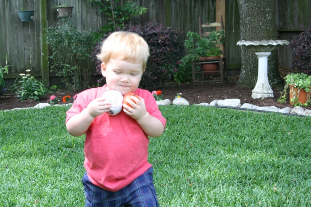 Wyatt playing outside