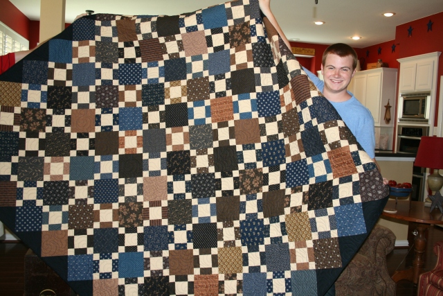 Andrew likes his quilt