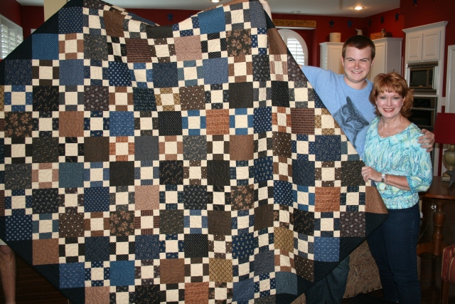 Andrew and I with his new quilt