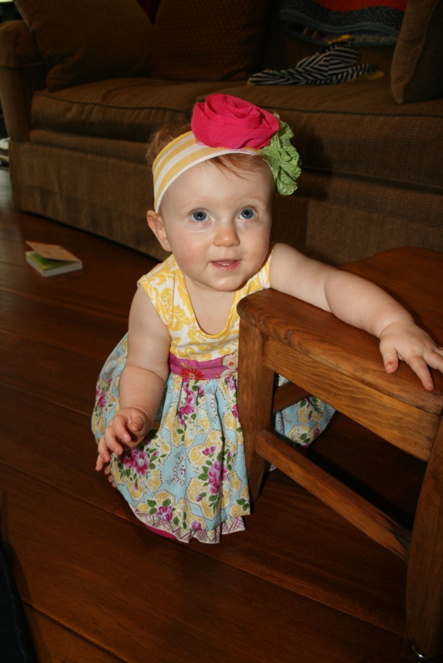 Adley in her new birthday dress
