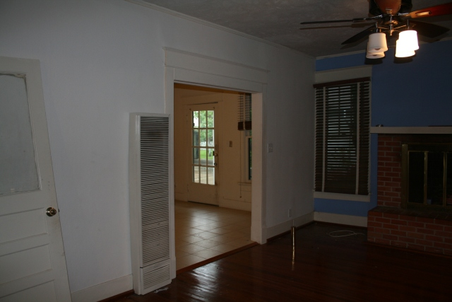 another view from den into dining room