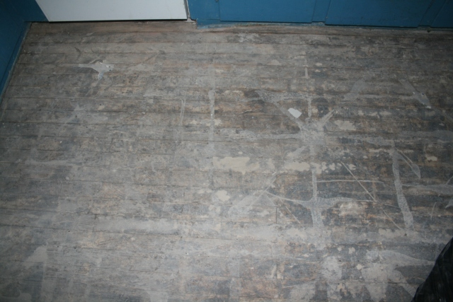 a closer view of the floor