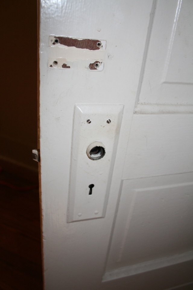 the front of the door had a lock, I removed that
