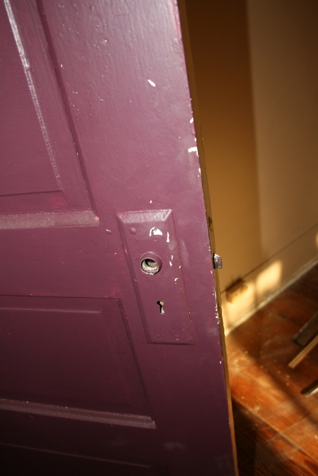 the inside of the door.  notice the lovely color
