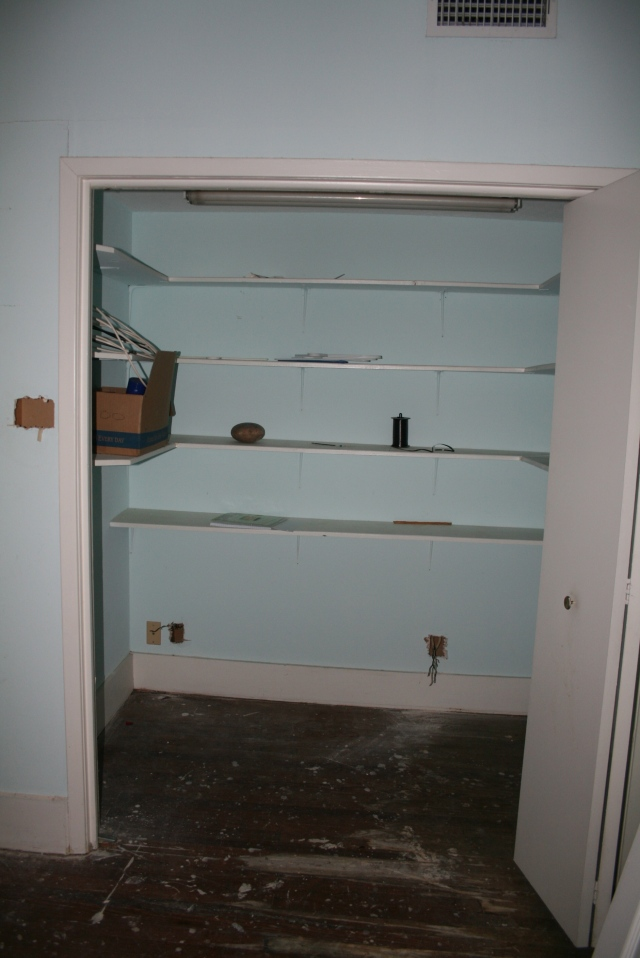 the downstairs closet before demo