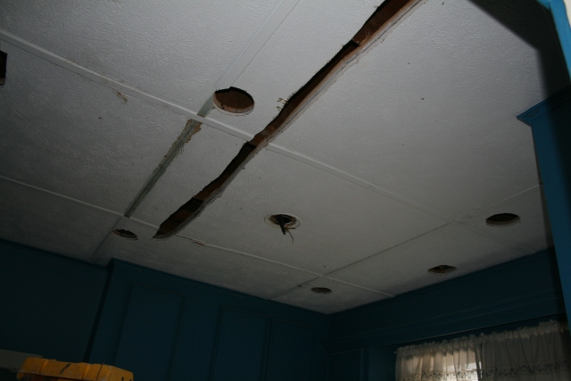 the kitchen ceiling