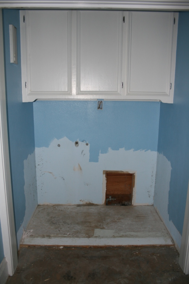 the washer and dryer gone