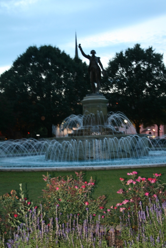 another view of the fountain
