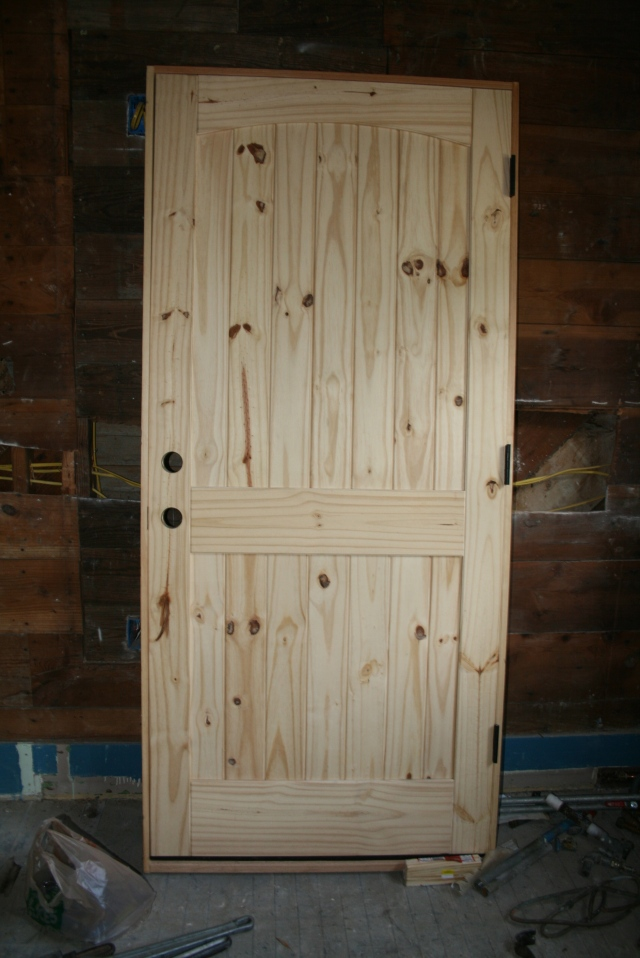 this is the new door for the back porch