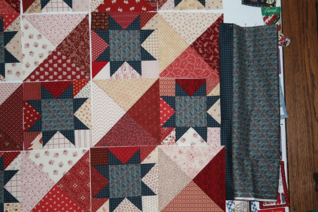 a closer view with border fabric