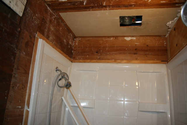 this sheetrock is gone in the master bath
