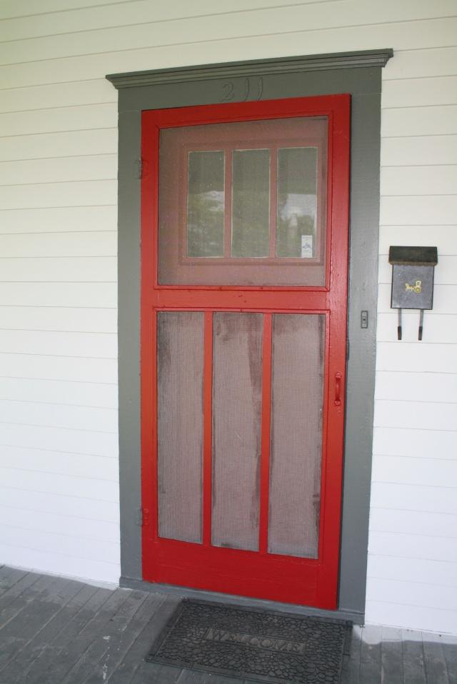 my door with the screen door all painted