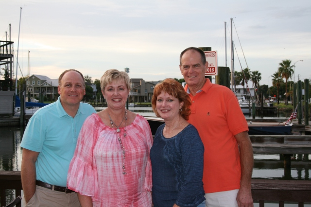 Steve, Penny, me and David