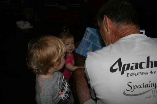 Wyatt and Kynlee getting some story time