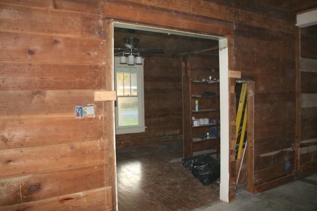 trim off the door into the den