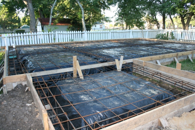 all the rebar is in place