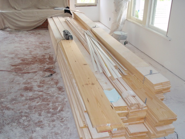 wood for all the trim work
