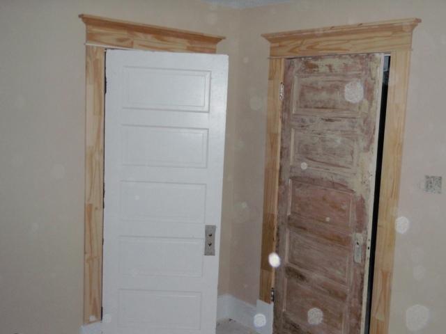 doors hung and trim