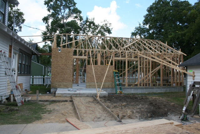 4 sides with trusses and some walls