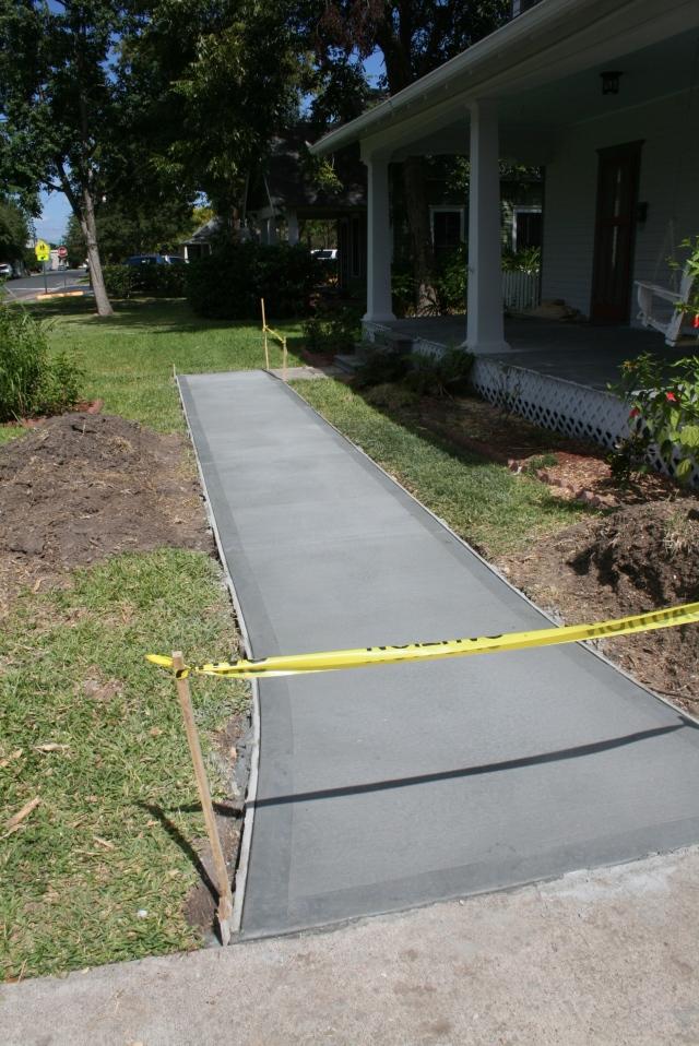 new front sidewalk