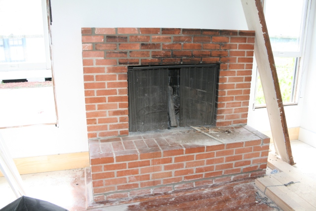 the fireplace repaired