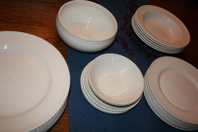 new dishes from the garage sale