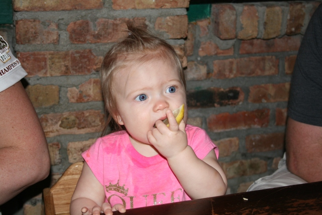 Kynlee likes the lemon
