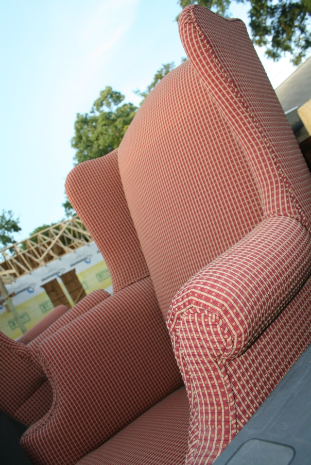 one of the wing back chairs