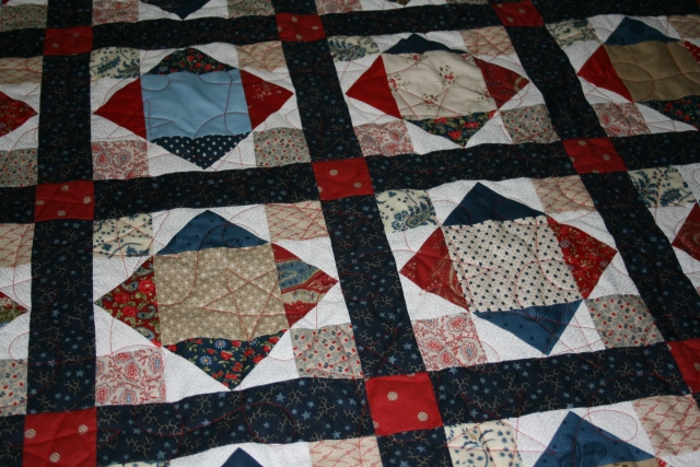 a closer view of the quilting