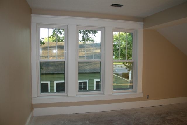 upstairs bedroom with new windows