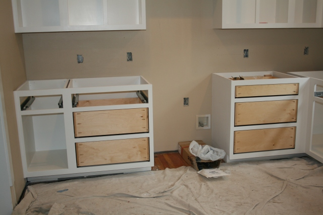 kitchen with drawer fronts