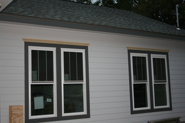 trim on the front windows