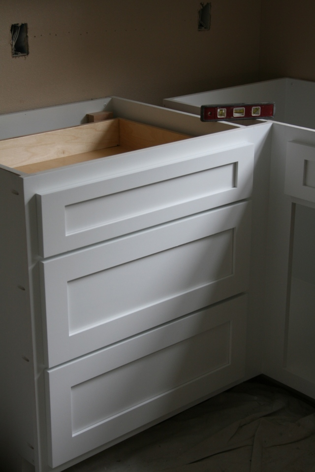 drawers in place