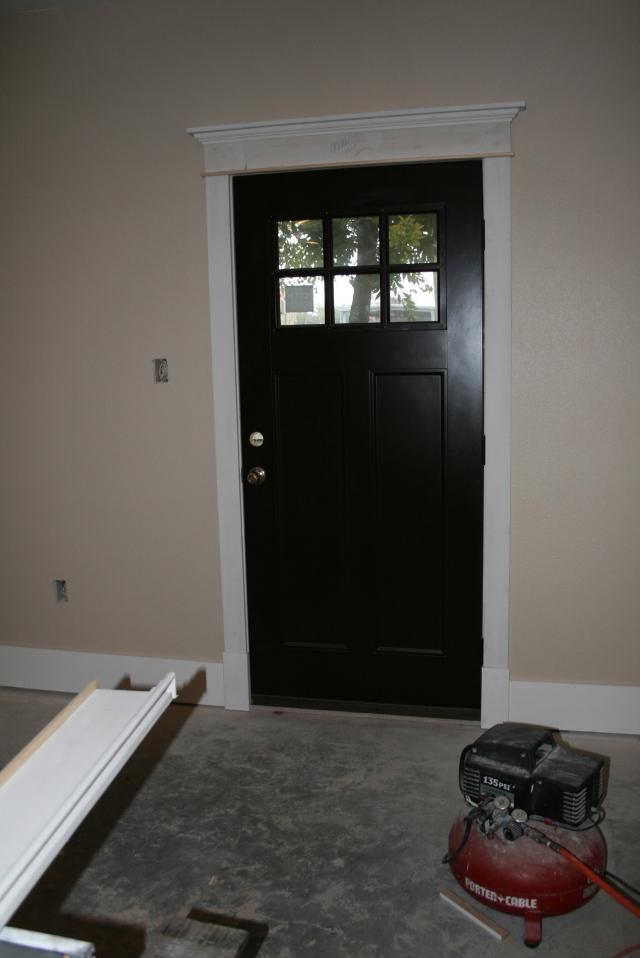 trim around the back door
