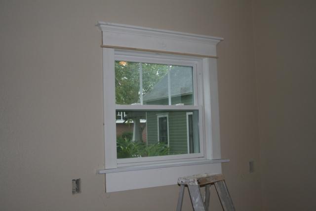 trim around the kitchenette window
