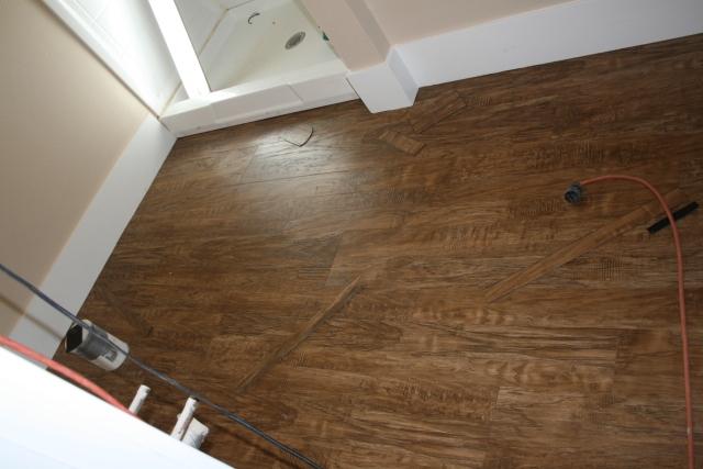 flooring in the master bath