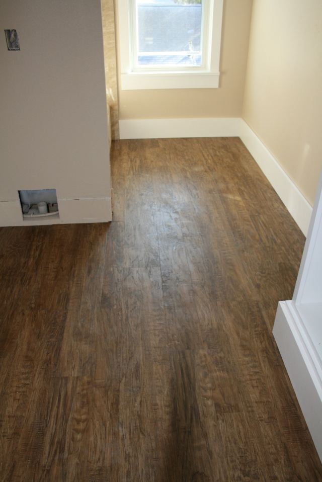 flooring in the upstairs bath