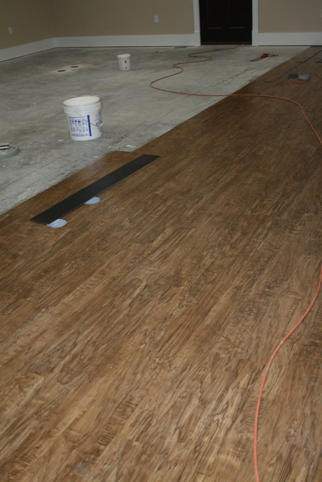 flooring in the craft room