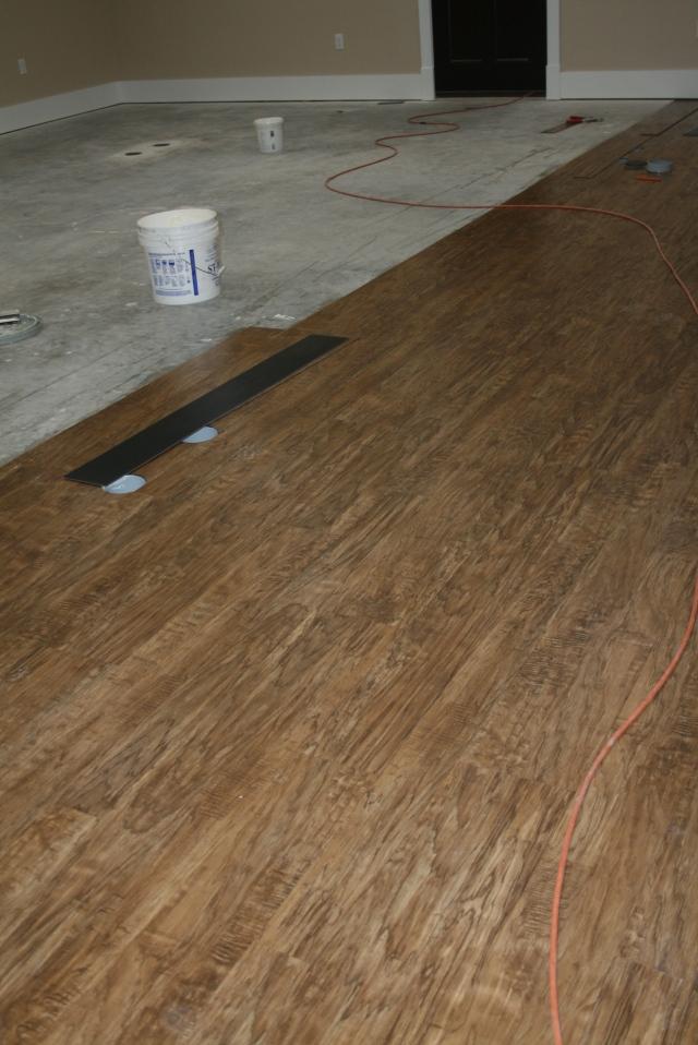 flooring in the craft room
