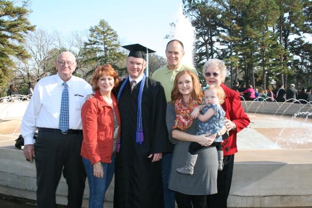 Dad, me, Kyle, David, Kara, Adley and Mom