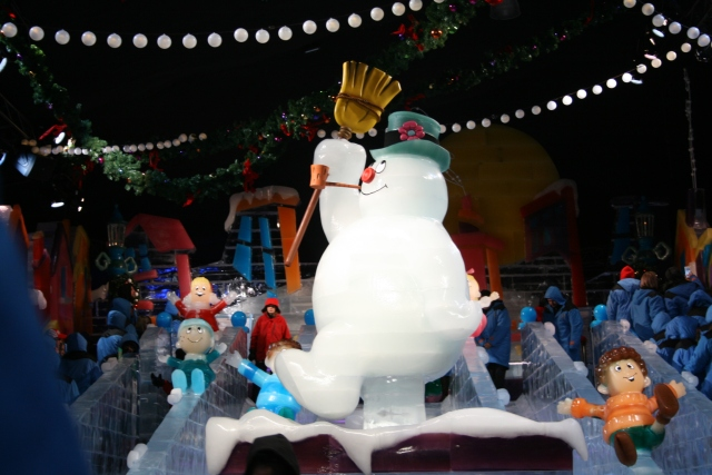 Frosty exhibit at the Gaylord Texan