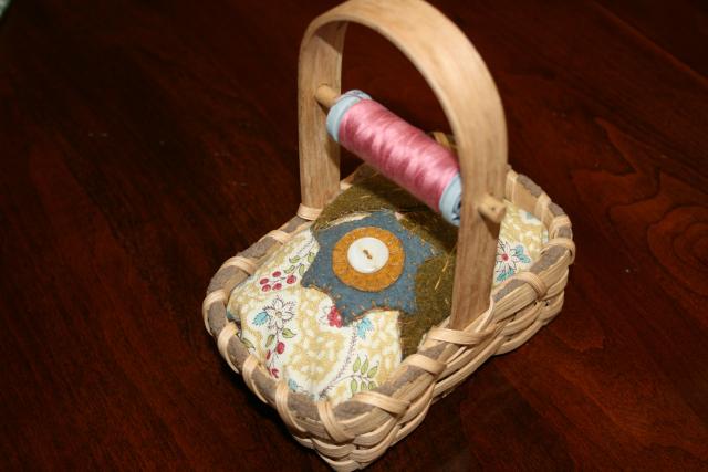 matching pin cushion basket
