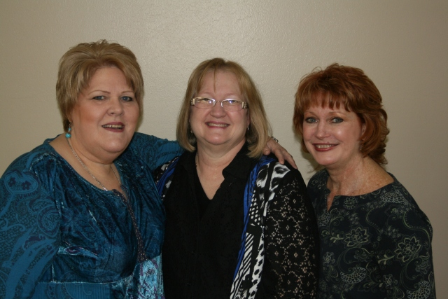 Pam,another high school friend, Karen and me