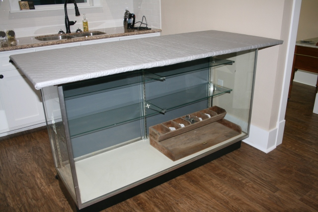 our new ironing display case