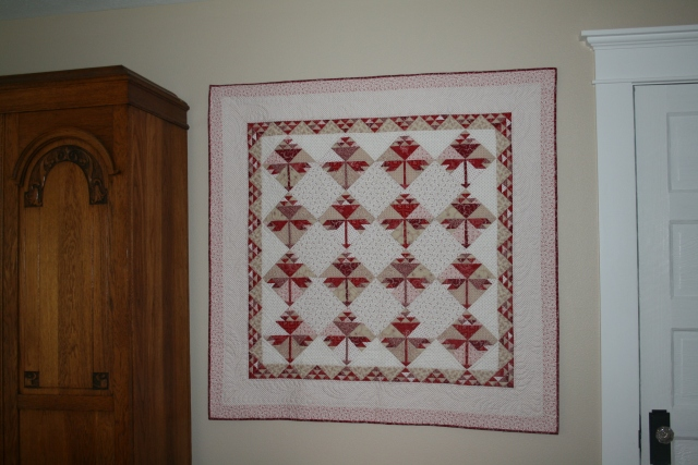 small quilt hung