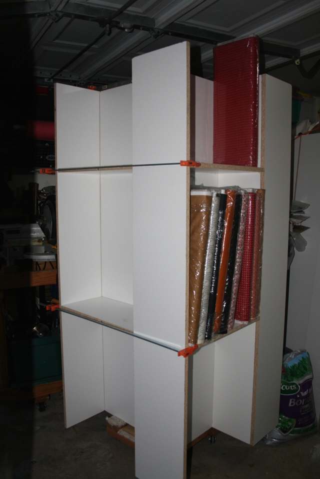 shelf with fabric