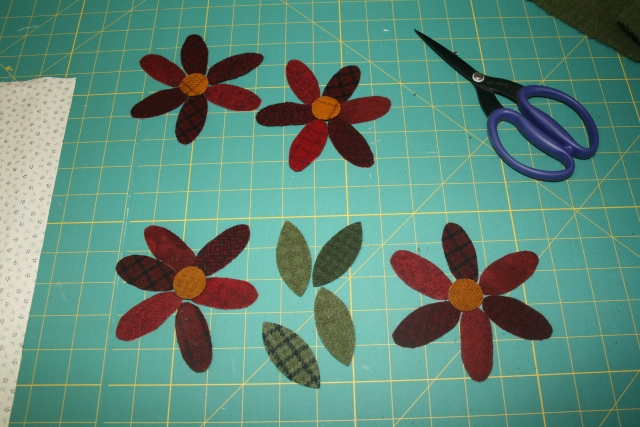 scrap reds for the petals